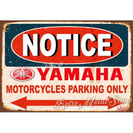notice-yamaha-motorcycle-parking-tin-sign
