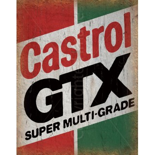 Castrol GTX Motor Oil vintage garage  metal tin sign wall plaque