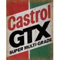 Castrol GTX Motor Oil vintage garage  metal tin sign wall plaque