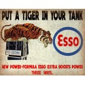 Esso put a tiger in your tank vintage garage  metal tin sign wall plaque