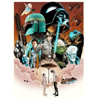 Star Wars Empire strikes back  movie film metal tin sign poster plaque