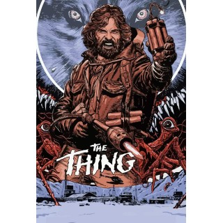The Thing movie film metal tin sign poster plaque