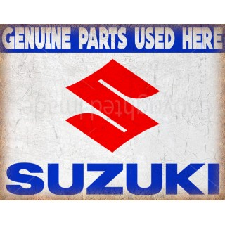 suzuki-genuine-parts-metal sign