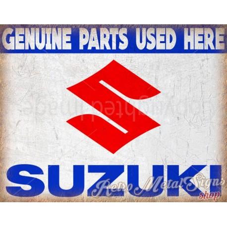 suzuki-genuine-parts-metal sign