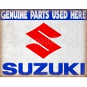 Suzuki Genuine Parts motorcycle vintage metal tin sign poster wall plaque