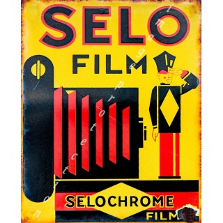 Selo Film Selochrome vintage advertisement  metal tin sign poster