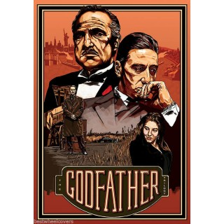 The Godfather movie film metal tin sign poster plaque