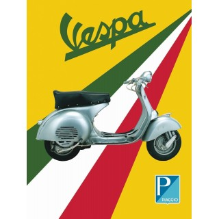 Vespa Scooter Service Vintage garage metal tin sign