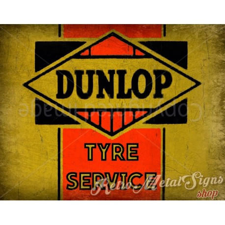 dunlop-tyre-service-metal-sign