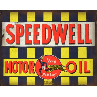 Speedwell Motor Oil vintage garage  metal tin sign wall plaque