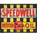 Speedwell Motor Oil vintage garage  metal tin sign wall plaque