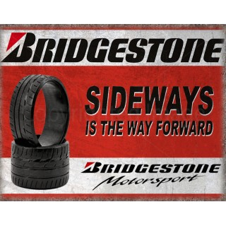 Bridgestone Tyres  vintage garage  metal tin sign wall plaque