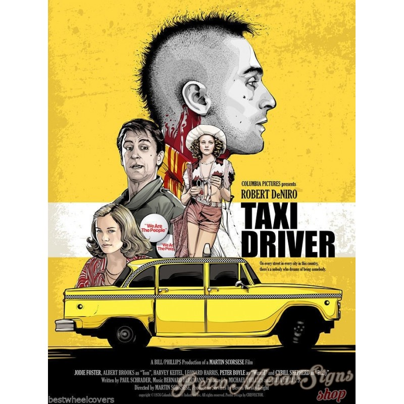 Taxi Driver Movie Film Metal Tin Sign Poster Plaque