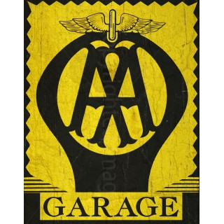 AA Garage Services vintage metal tin sign poster  wall plaque