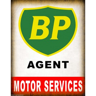 BP Agent vintage garage metal tin sign wall plaque
