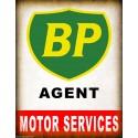 BP Agent vintage garage metal tin sign wall plaque