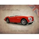 Austin Healey 100 vintage metal tin sign wall plaque