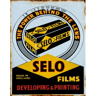 Selo Films vintage advertisement  metal tin sign poster