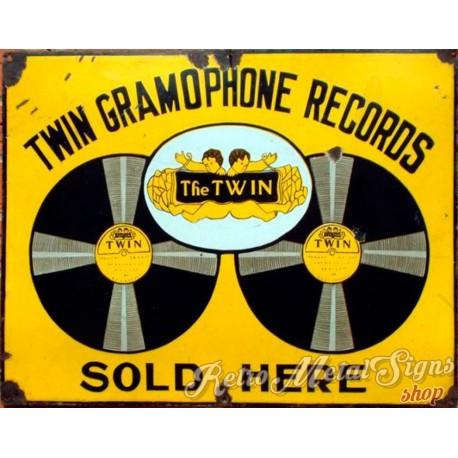 twin-gramophone-records-metal-sign