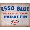 Esso Blue Parrafin vintage garage  metal tin sign wall plaque