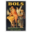 Bols Dry Gin vintage alcohol pub bar metal tin sign poster wall plaque