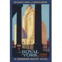 Royal York USA vintage travel metal tin sign poster