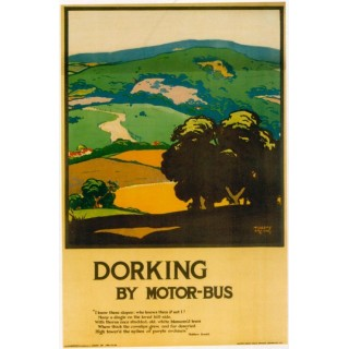 London Underground - Dorking 1920 vintage travel metal tin sign poster
