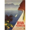 Riva Torbole Lago di Garda vintage Italian travel metal tin sign poster