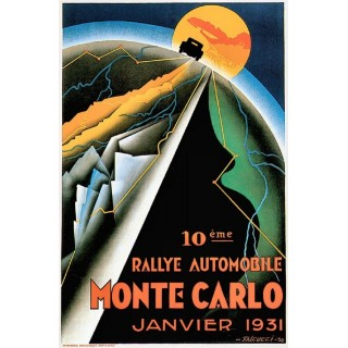Monte Carlo Rally 1931  vintage grand prix metal tin sign poster plaque