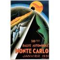 Monte Carlo Rally 1931  vintage grand prix metal tin sign poster plaque