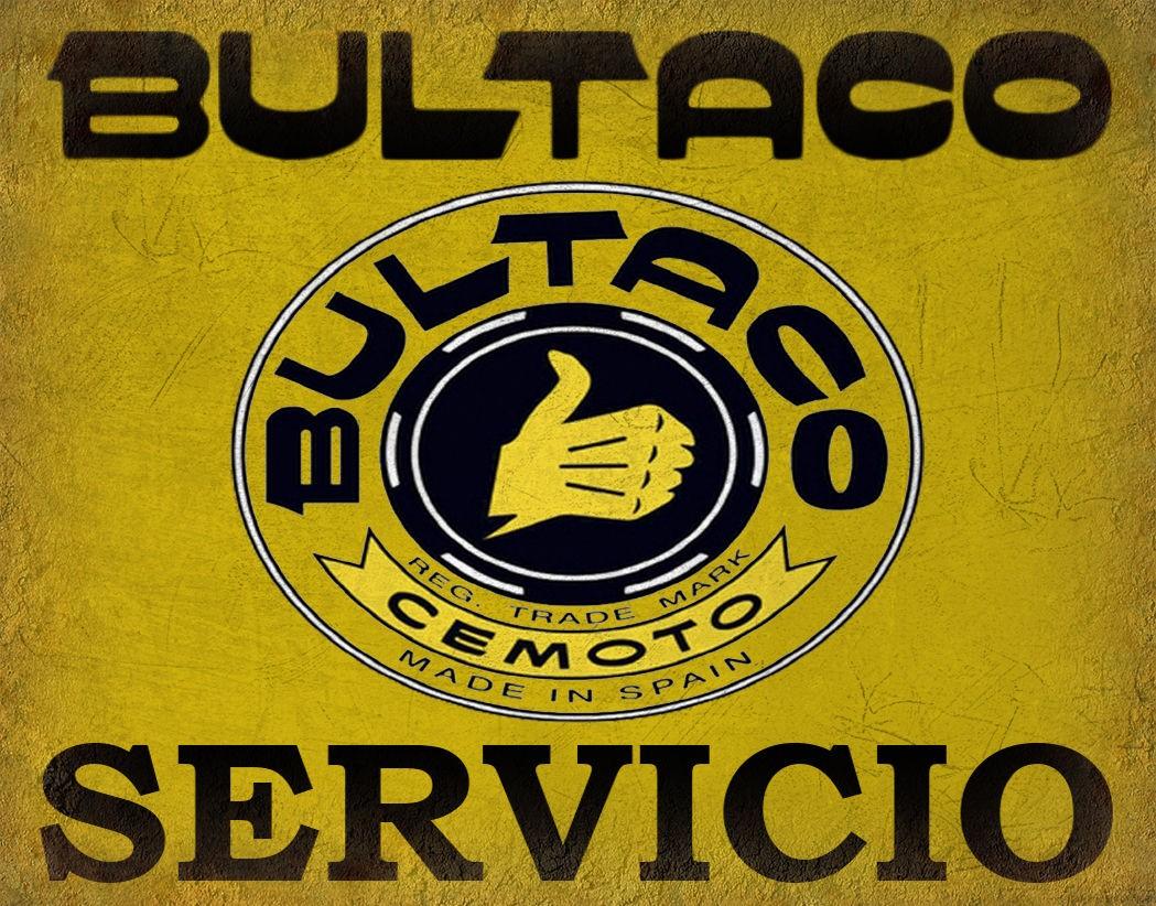 Bultaco Servicio Motorcycles vintage garage metal tin sign
