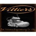 Villiers Motorcycle Engines Vintage garage metal tin sign