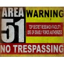 Sci-Fi Fantasy Military Area 51 metal tin sign poster wall plaque