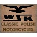 WSK classic Polish Motorcycle Vintage garage workshop metal tin sign