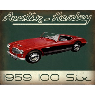 austin-healey-100-six-vintage-metal-tin-sign
