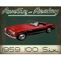 Austin Healey 100 six vintage garage metal tin sign wall plaque
