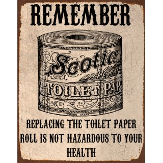 Good Replacing The Toilet Paper Funny Bathroom... Replacing The Toilet Paper Vintage  Metal Sign ...