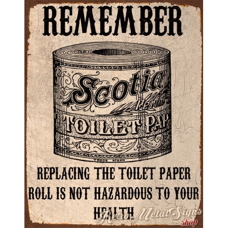 Replacing The Toilet Paper Metal Tin