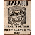 Replacing the toilet paper funny bathroom metal tin sign poster