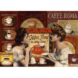 Caffe Roma Vintage coffee shop metal tin sign poster plaque