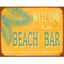 Welcome to our Beach Bar vintage pub bar tavern metal tin sign