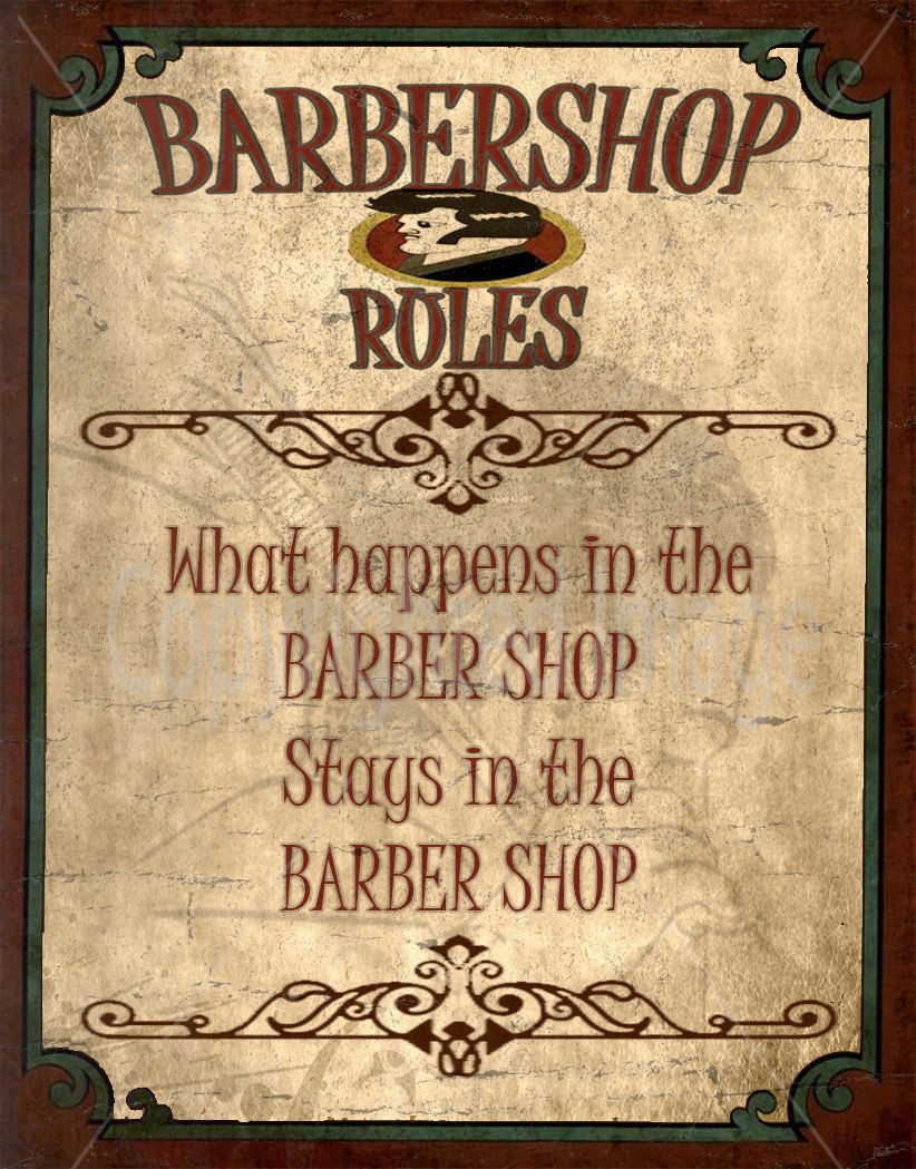 Antique barber shop sign - Antique Barber Shop Sign 47