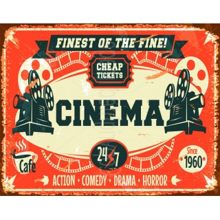 Finest of the Fine Cinema metal tin sign poster wall plaque