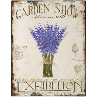 Garden Show Exhibition vintage metal tin sign poster