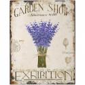 Garden Show Exhibition vintage metal tin sign poster