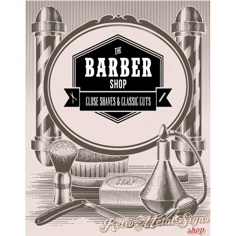 Fabulous Barber Shop Classic Cuts vintage barber metal tin sign poster QV75