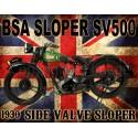 BSA Sloper SV500 motorcycle vintage metal tin sign poster wall plaque