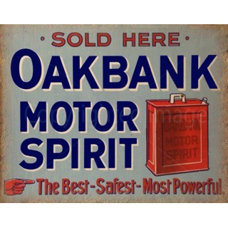 Oakbank Motor Spirit Oil vintage garage  metal tin sign wall plaque
