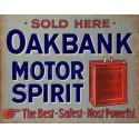 Oakbank Motor Spirit Oil vintage garage  metal tin sign wall plaque