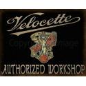 Velocette  Motorcycles Service Vintage garage metal tin sign